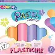 Пластилин Colorino Пастель 6 цветов 100 г (84972PTR)