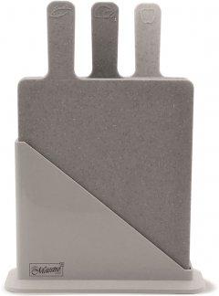 Набор Maestro 3 разделочные доски 19.5х23.5 см + подставка (MR1789G)