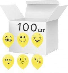 Набор латексных шариков Angel Gifts 100 шт 30.4 см Желтых (Я44097_AG1627-045)