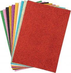 Набор декоративной бумаги Centrum Eva Foam Glitter А4 10 цветов (87715)