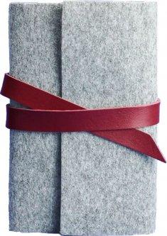 Блокнот BlankNote 1.0 Фетровый с бордовыми вставками 14 х 20 см 120 л (BN-SB-1-st-flt-vin)