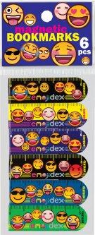 Линейка-закладка для книг Centrum Emojidex магнитная 6 шт (87003)