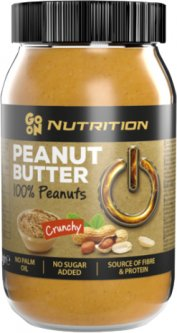 Арахисовая паста GO ON Nutrition Peanut butter crunchy 100% 900 г (5900617041142)