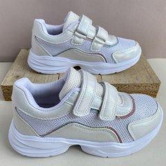 Кроссовки детские ВВТ размер 33 стелька 20,5 см для девочки Н3115 белый