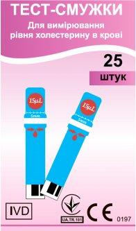 Тестовые полоски EasyTouch для измерения уровня холестерина в крови 25 шт (4768)