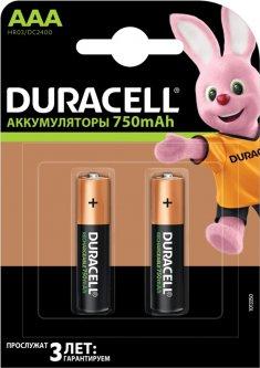 Аккумулятор DuracellRecharge Ni-MH AAA 750 мАг 2 шт (5000394038769)