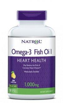 Жирные кислоты Natrol Omega-3 1000 мг 30% 150 капсул (047469040406)