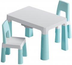 Детский функциональный столик POPPET Моно Блу и два стульчика (PP-005WB-2)