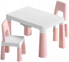 Детский функциональный столик POPPET Моно Пинк и два стульчика (PP-005WP-2)