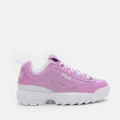 Кроссовки детские Fila Disruptor Ii Glimmer Kids' Low Shoes 3XM01269-522 38 Фиолетовые с белым (4670036579144)