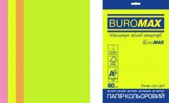 Набор офисной цветной бумаги Buromax Euromax Neon А4 80 г/м² 4 цвета 200 листов (BM.27215200E-99)