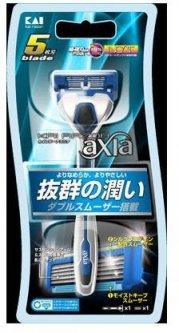 Станок для бритья мужской Kai Razor Axia с 5ю лезвиями (4901331000607)
