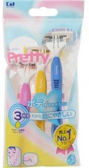 Станок для бритья женский Kai Besty с 3м лезвием (4901331000195)