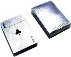 Карты игральные Duke пластиковые 500 euro серебро (DN32715)