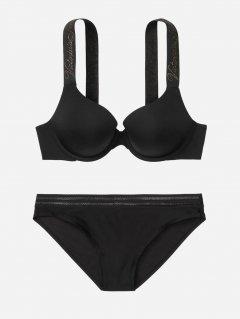 Комплект белья Victoria's Secret 561138175 30B/XS Черный (1159753436)