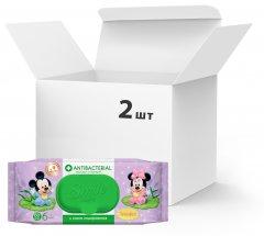 Упаковка влажных салфеток Smile Baby Antibacterial 2 пачки по 60 шт (42116008)