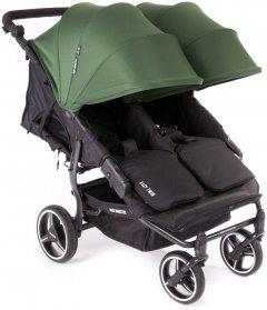 Прогулочная коляска для двойни Baby Monsters Easy Twin Зеленая (черное шасси) (BMT3.0S-10002_012)