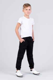 Джинсы джоггеры для мальчика Zironka Z1-28-1008-1 128 см Черный