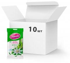 Упаковка влажных салфеток Smile Daily Бамбук и Эдельвейс New 10 пачек по 15 шт (42224435)