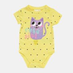 Боди-футболка Coccodrillo Hello WC1112202HEL-004 86 см Желтое (5904705519117)