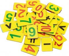 Набор магнитных цифр Economix от 1 до 10 + знаки 15 шт (E61486)