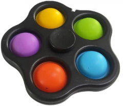 Игрушка антистресс Pop It Simple Dimple Спинер симпл димпл black (2000992408333)