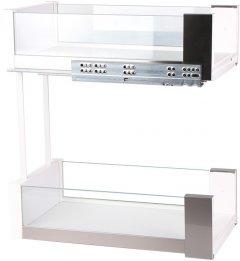 Карго Vibo Essence 300 мм белый/стекло (VR46690)
