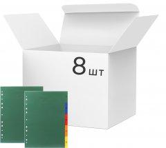 Набор пластиковых цифровых разделителей KLERK А4 1-5 140 мкм микс цветов Глянцевых 8 шт (Я13164_PY-05A)
