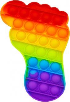 Игрушка антистресс вечная пупырка Pop It Нога (2000992408449)