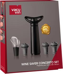 Набор подарочный Vacu Vin Saver Concerto Gift Set Black (09876606)