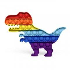 """Іграшка -антистрес натисни пухир """"POP IT!"""", динозавр, сенсорна іграшка Pop It форма динозавра Силіконова Поп Ит Push Up Bubble Різноколірна Simple Dimple SM-DM"""