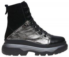 Ботинки Fabiani 606 38 25 см Никель-черные (H2100000190294)