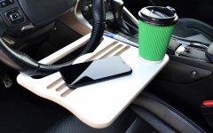 Автомобильный столик Poputchik на руль ламинированный 310 x 235 x 10 мм (16-045)