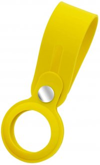 Чехол-брелок ArmorStandart для AirTag Silicone Loop with Button Yellow (ARM58926)