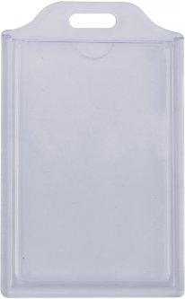 Набор бейджей Optima ABS + PVC вертикальные 74х105 мм 10 шт Прозрачный (O45628)