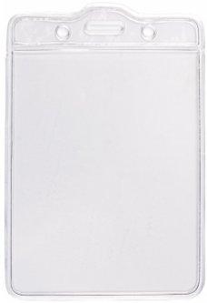 Набор бейджей Optima PVC вертикальные 75х100 мм 20 шт Прозрачный (O45601)