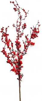 Ветка Yes! Fun 98 см с красными ягодами заснеженная (973489) (5056137156269)