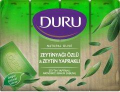 Туалетное мыло DURU Natural экопак с экстрактом оливкого масла и с листьями оливы 4 х 150 г (8690506494544)
