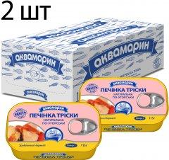 Упаковка печени трески Аквамарин по-венгерски 115 г х 2 шт (4820183774460)