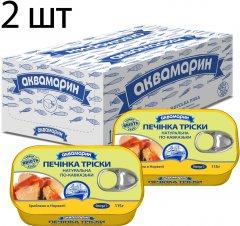 Упаковка печени трески Аквамарин по-кавказски 115 г х 2 шт (4820183774477)