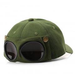 Кепка Бейсболка с маской Солнцезащитные очки Hande Made Хаки, Унисекс