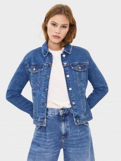 Джинсовая куртка Bershka 1308335400-ACWX XS Светло-синяя (3000002977246)