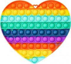 Игрушка антистресс вечная пупырка Pop It сердце большое (2000992408707)
