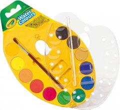 Палитра акварельных красок Crayola 12 шт с кисточкой (256454.024) (0071662084349)