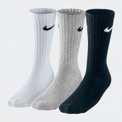Набор носков Nike U Nk V Cush Crew - 3P Value SX4508-965 S (34-38) 3 пары Черный/Белый (685068095450)