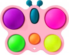 Игрушка антистресс Simple Dimple Бабочка розовая (2000992408899)