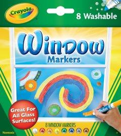 Набор фломастеров Crayola Washable для рисования на стекле 8 шт (256344.024) (0071662081652)