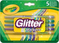 Набор фломастеров Crayola с блестками 5 шт (256354.012) (0071662186456)