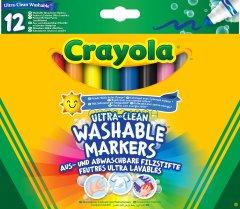 Набор фломастеров Crayola Ultra-Clean Washable широкая линия 12 шт (256349.012) (0071662083298)