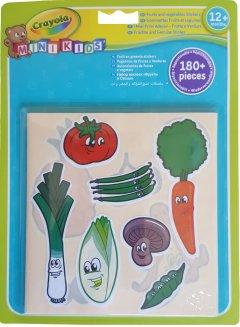 Набор стикеров Crayola Mini Kids Овощи и фрукты 180 шт (256405.024) (5010065201088)
